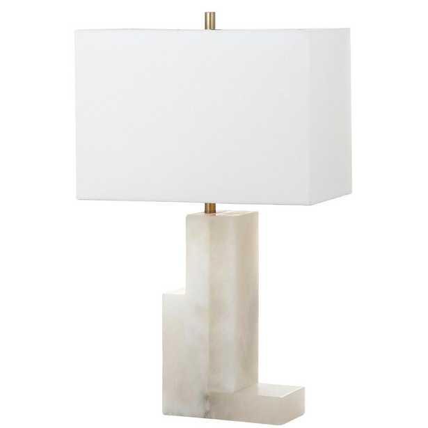 Safavieh Cora Alabaster 27.75 in. White Table Lamp - Home Depot