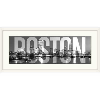 'Boston Skyline, Transparent Overlay' Graphic Art Print - Wayfair
