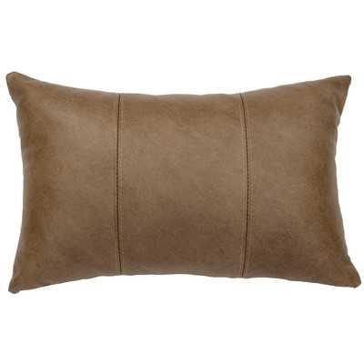 Hayfield Leather Lumbar Pillow - Wayfair
