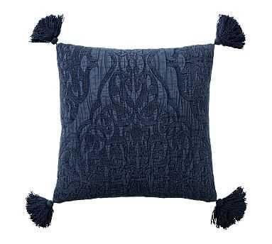 "Aileen Jacquard Pillow, 22"", Midnight - Pottery Barn"
