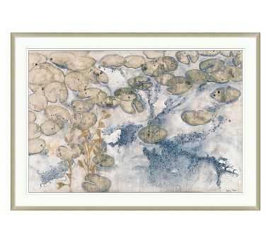 Pond Of Lillies Framed Paper Print, Oversized - Pottery Barn