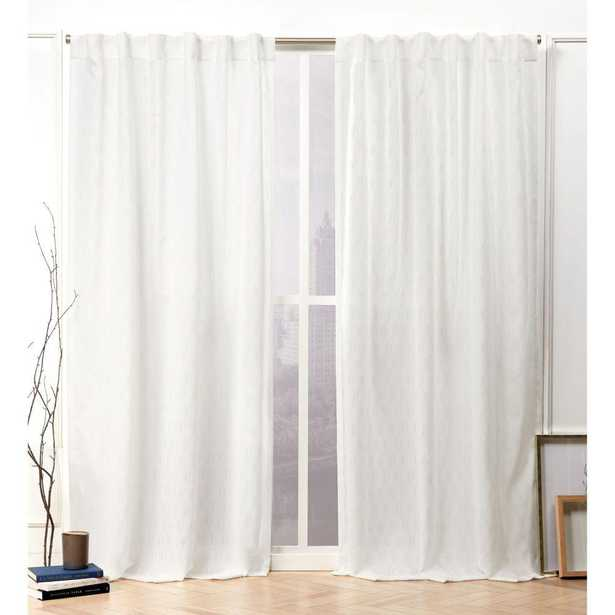 Nicole Miller Tangled Snowflake Sheer Hidden Tab Top Curtain Panel - 54 in. W x 96 in. L (2-Panel) - Home Depot