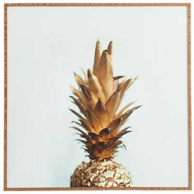 The Gold Pineapple' Framed Graphic Art by Chelsea Victoria - Picture Frame Photograph Print on Wood - AllModern