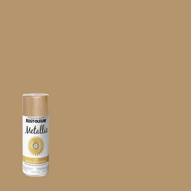 Rust-Oleum 11 oz. Metallic Gold Spray Paint - Home Depot