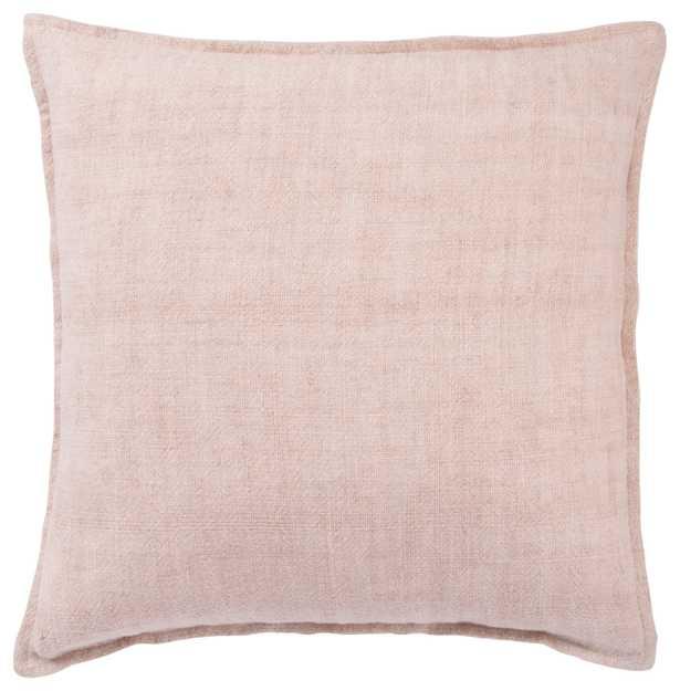 "Design (US) Light Pink 22""X22"" Pillow - Collective Weavers"