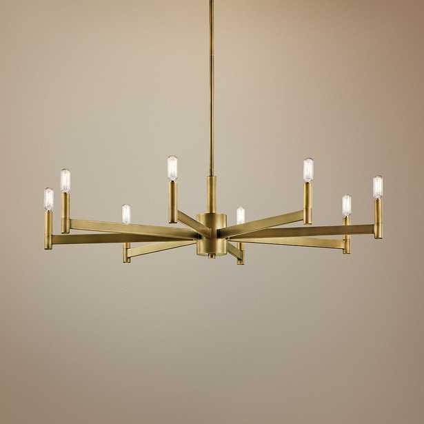 "Kichler Erzo 35 1/2"" Wide Natural Brass 8-Light Chandelier - Style # 42T07 - Lamps Plus"