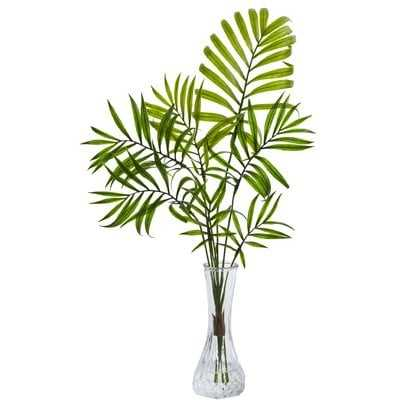 Mini Floor Palm Plant in Decorative Vase - Wayfair