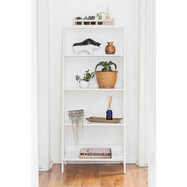 Fargo White Wood 4-Shelf Ladder Bookshelf - Style # 24W73 - Lamps Plus