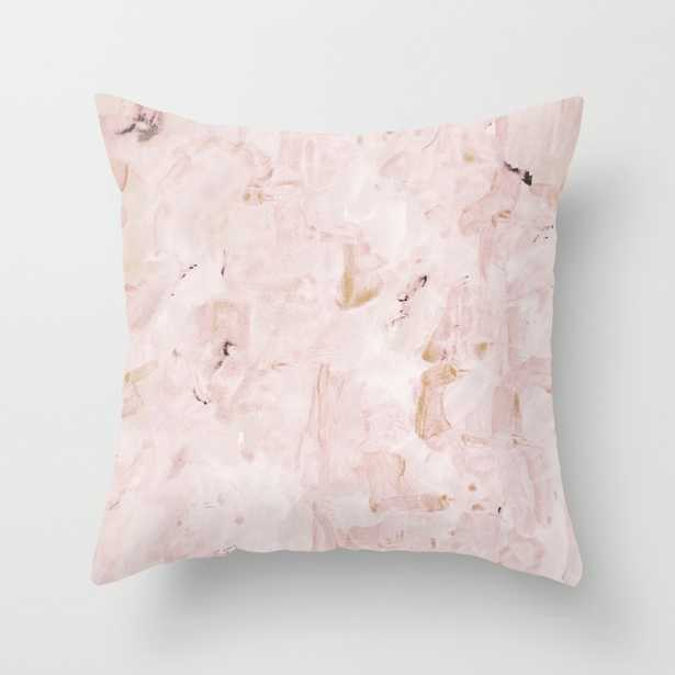 """abstract-soft pink Throw Pillow - Indoor Cover (16"""" x 16"""") with pillow insert by Georgianaparaschiv - Society6"""