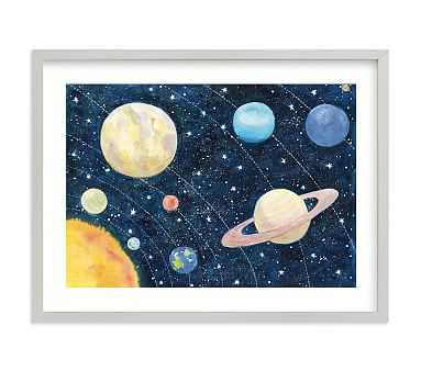 Solar System Wall Art by Minted(R) 14x11, Gray - Pottery Barn Kids