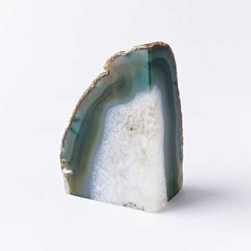 Agate Bookend, Green, Individual - West Elm