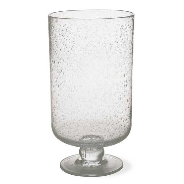 Hurricane 11-3/4 in. Clear Bubble Glass Large Candle Holder - Home Depot