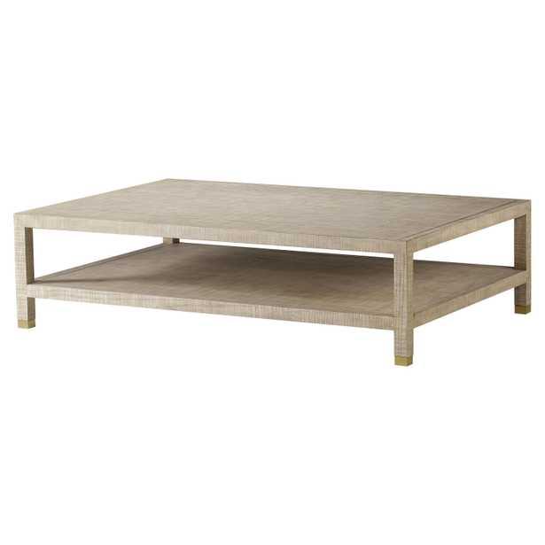Resource Decor Raffles Modern Classic Rectangular Wood Coffee Table - Kathy Kuo Home