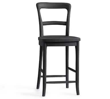 Cline Counter Stool, Charcoal - Pottery Barn