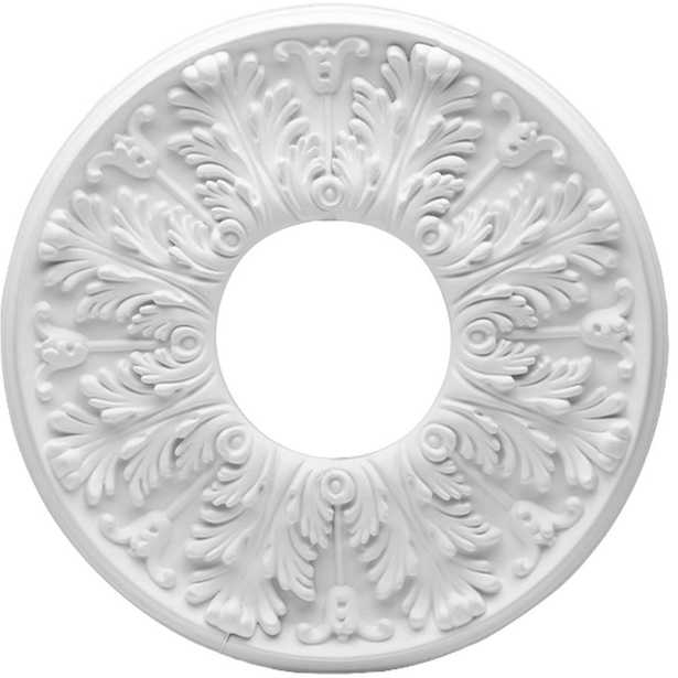Westinghouse Victorian 16 in. White Ceiling Medallion (2-Piece) - Home Depot