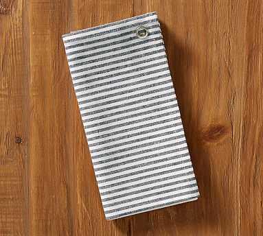 Wheaton Stripe Tea Towel, White/Sailor Blue - Pottery Barn