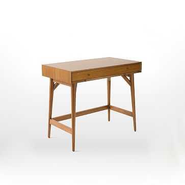 Mid Century Mini Desk, Acorn - West Elm