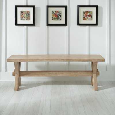 Romford Wood Bench - Wayfair