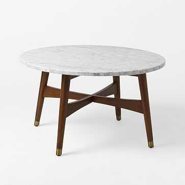 Reeve Mid-Century Coffee Table - Marble- Order now for delivery Oct. 3 - Oct. 17 - West Elm