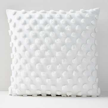 """Candlewick Pillow Cover, 24""""x24"""", White - West Elm"""