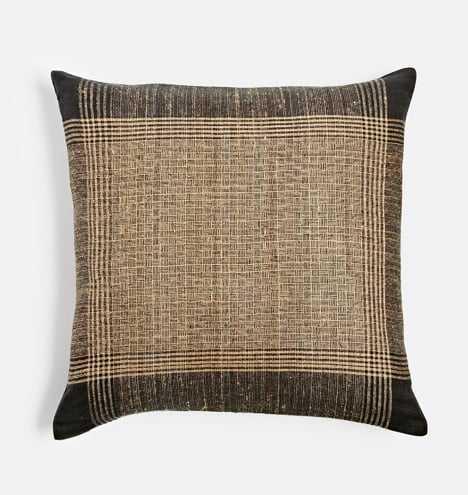 Plaid Handspun Raw Silk Pillow Cover - Rejuvenation