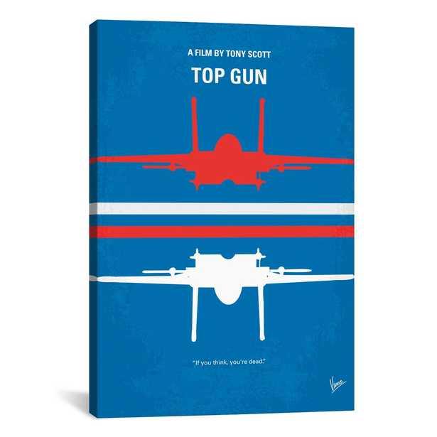 Top Gun Minimal Movie Poster by Chungkong Canvas Wall Art, Multi - Home Depot