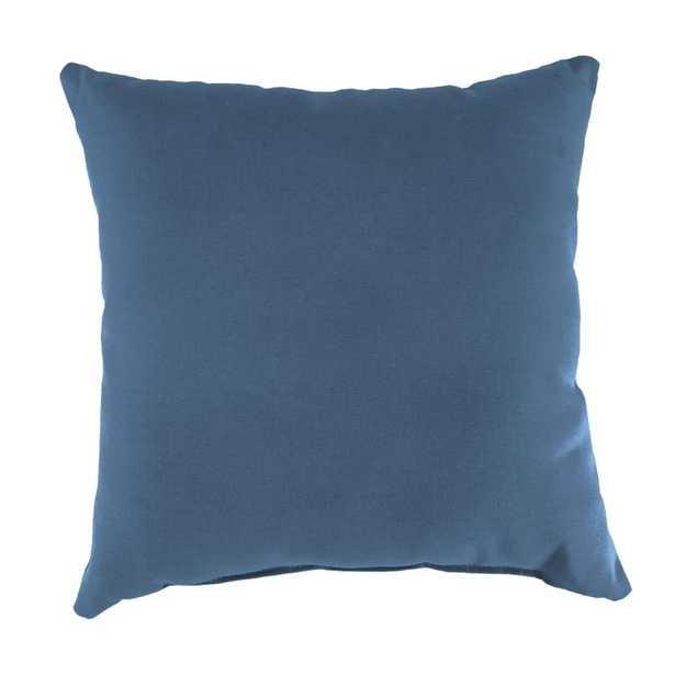 Jordan Manufacturing Sunbrella Canvas Sapphire Blue Square Outdoor Throw Pillow - Home Depot