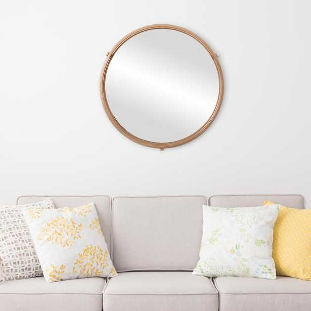 Cut Out Round Gold Decorative Mirror - Home Depot