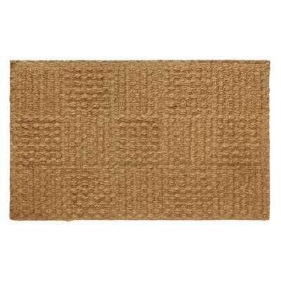 Coir Checkerboard 30 in. x 18 in. Indoor Door Mat - AllModern