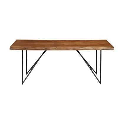 Templeman Live Edge Acacia Wood Dining Table - Wayfair