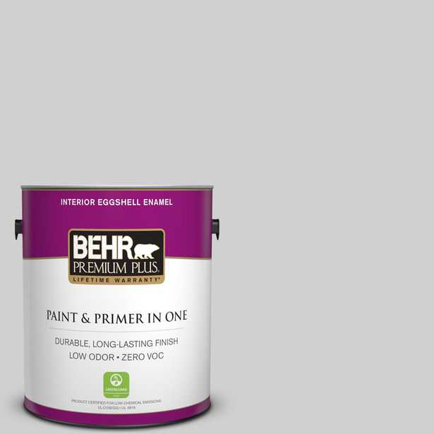 BEHR Premium Plus 1 gal. #N520-1 White Metal Eggshell Enamel Zero VOC Interior Paint and Primer in One - Home Depot