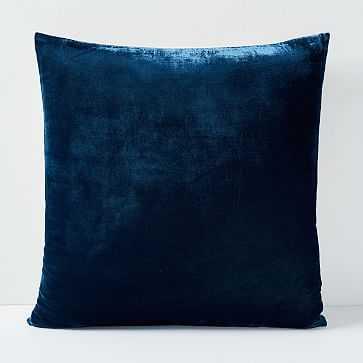 "Lush Velvet Pillow Cover, Regal Blue, 20""x20"", Set of 2 - West Elm"