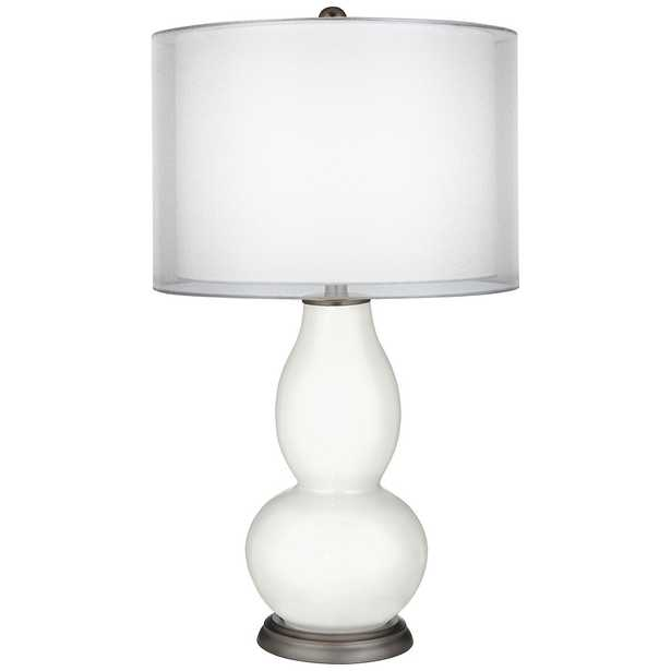 Winter White Sheer Double Shade Double Gourd Table Lamp - Style # 9V463 - Lamps Plus