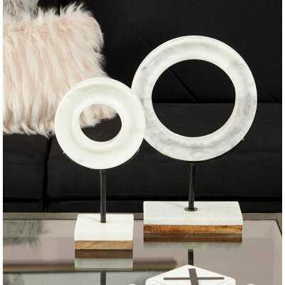 Modern Marble Ring Sculpture - Wayfair