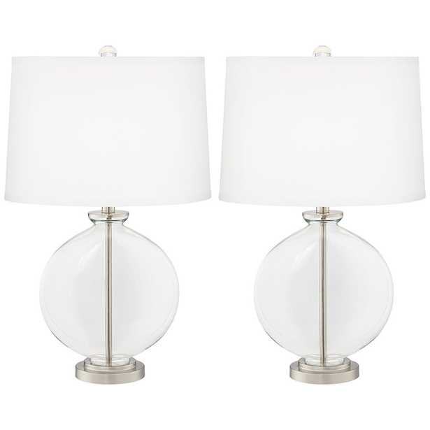 Clear Glass Carrie Table Lamp Set of 2 - Style # 53D78 - Lamps Plus