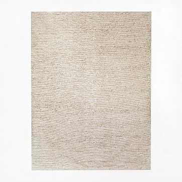 Mini Pebble Jute Wool Rug, 8'x10', Natural/Ivory - West Elm