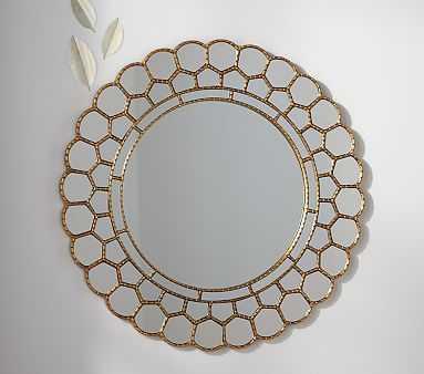 Gold Circle Blossom Mirror - Pottery Barn Kids
