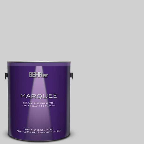 BEHR MARQUEE 1 gal. #N520-1 White Metal Eggshell Enamel Interior Paint and Primer in One - Home Depot
