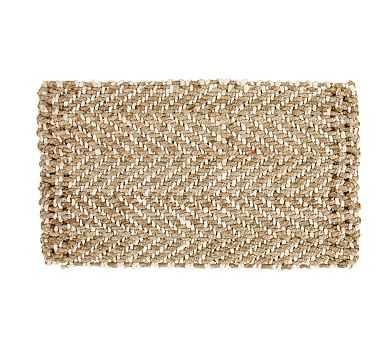 """Herringbone Natural Fiber Doormat, 18 x 30"""", Natural - Pottery Barn"""