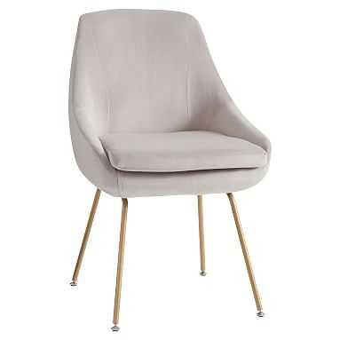 Mathis Chair, Gray Everyday Velvet - Pottery Barn Teen