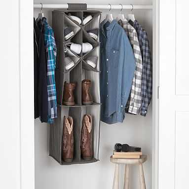 Shoe And Boot Hanging Organizer, Charcoal - Pottery Barn Teen