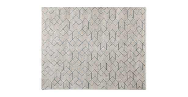 Polygon Cloud White / Blue Rug 8 x 10 - Article