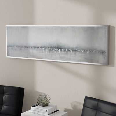 'Tides Edge Abstract' - Picture Frame Print on Canvas - AllModern