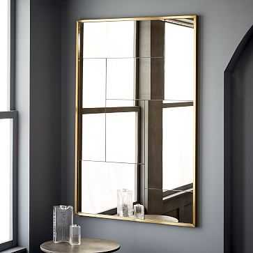 Multi Panel Foxed Wall Mirror, Antique Brass, Large - West Elm