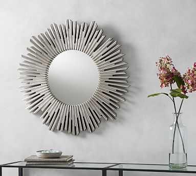 Harper Sunburst Mirror - Silver - Pottery Barn