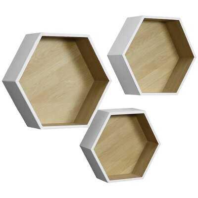 Copenhaver Hexagon 3 Piece Wall Shelf Set - Wayfair