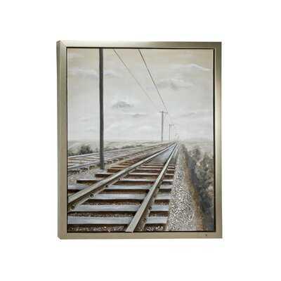 Industrial 3D Railroad Metal Wall Décor - Wayfair