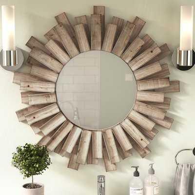 Perillo Burst Wood Accent Mirror - Birch Lane