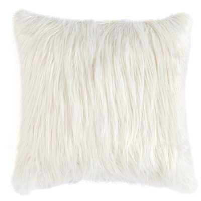Shag Pillow,ivory - Wayfair