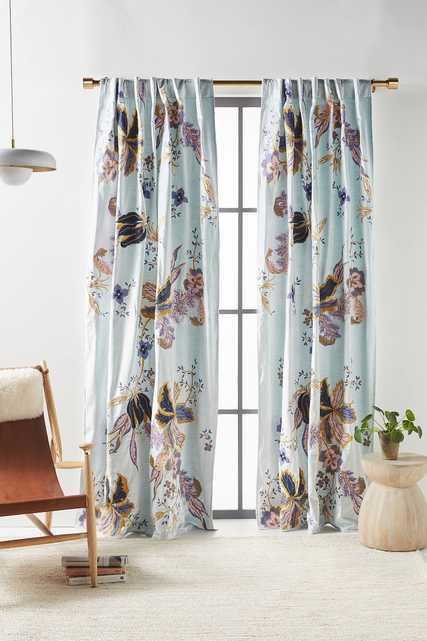 Embroidered Velvet Elan Curtain - Anthropologie